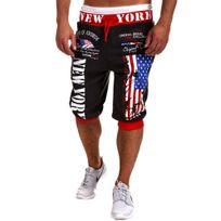 Cincjeans - Short sportwear homme Short Ny560 Gris et rouge