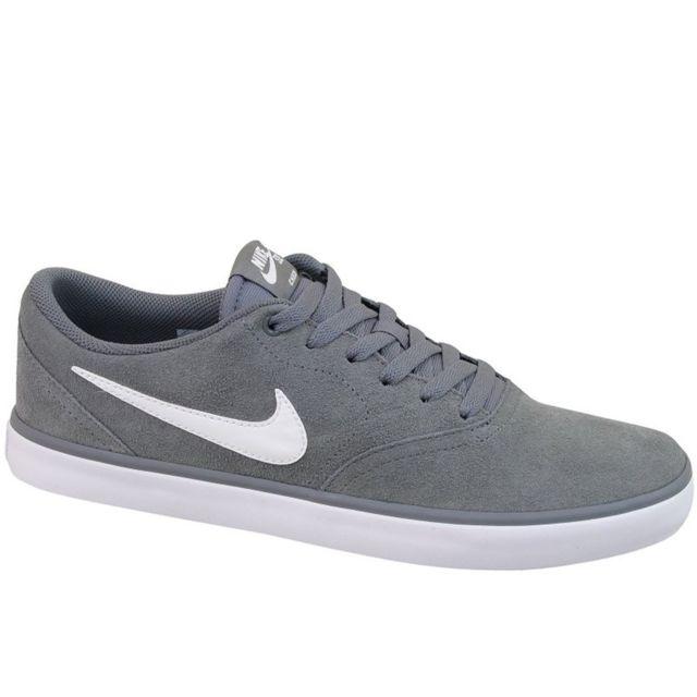 new york 46951 4ba6a Nike - Sb Check Solar - pas cher Achat   Vente Baskets homme - RueDuCommerce
