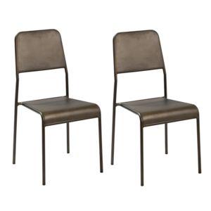 rendez vous d co chaise exon en m tal lot de 2 noir pas cher achat vente chaises. Black Bedroom Furniture Sets. Home Design Ideas