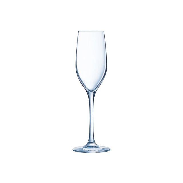 Chef Et Sommelier Flûte à champagne en krysta transparent 17 cl - Lot de 6 Sequence