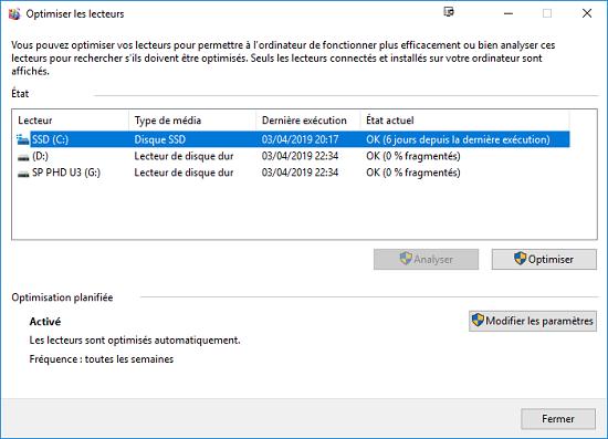 Optimiser le disque dur