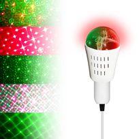 Inolights - Ampoule à effet Rouge & Vert - 8 motifs E27 Galaxia mode musical