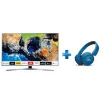 TV LED 55'' 139cm UE55MU6405 + Casque à arceau Bluetooth Bleu - T450BT