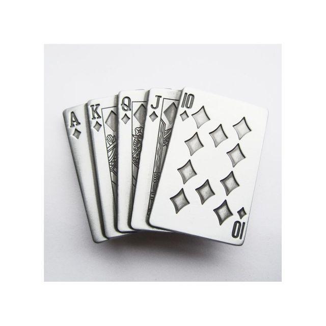 9d57b67fc34 Universel - Boucle de ceinture poker jeux de carte alu homme femme - pas  cher Achat   Vente Objets déco - RueDuCommerce