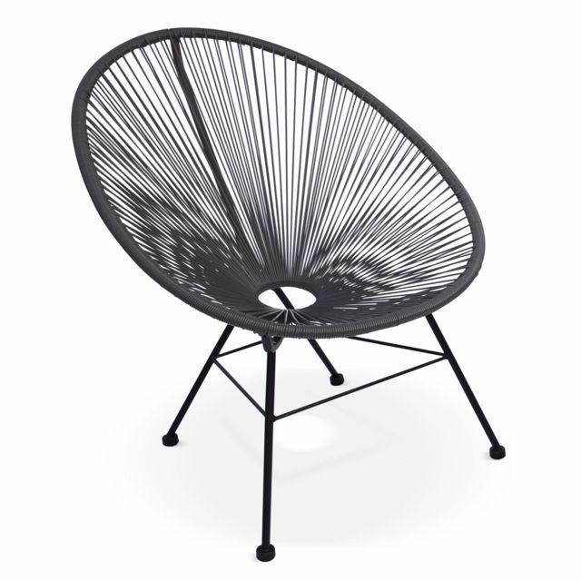 free aliceus garden fauteuil design oeuf acapulco gris fauteuil design cordage pvc with fauteuil. Black Bedroom Furniture Sets. Home Design Ideas