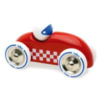 Vilac - Voiture Rallye checkers Gm rouge