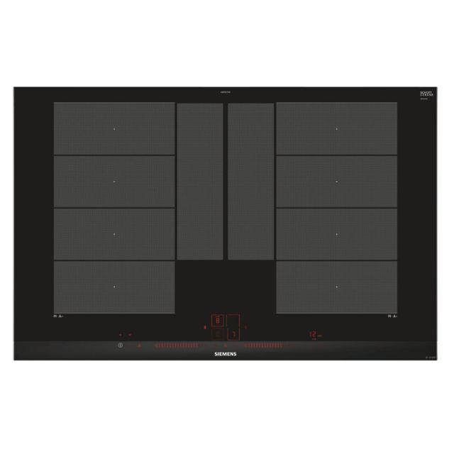 SIEMENS table de cuisson à induction 80cm 4 feux 7400w flexinduction noir - ex875lyv1e