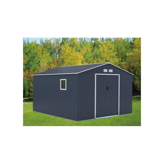 marque generique abri de jardin archer en acier galvanis gris 12 99m pas cher achat. Black Bedroom Furniture Sets. Home Design Ideas