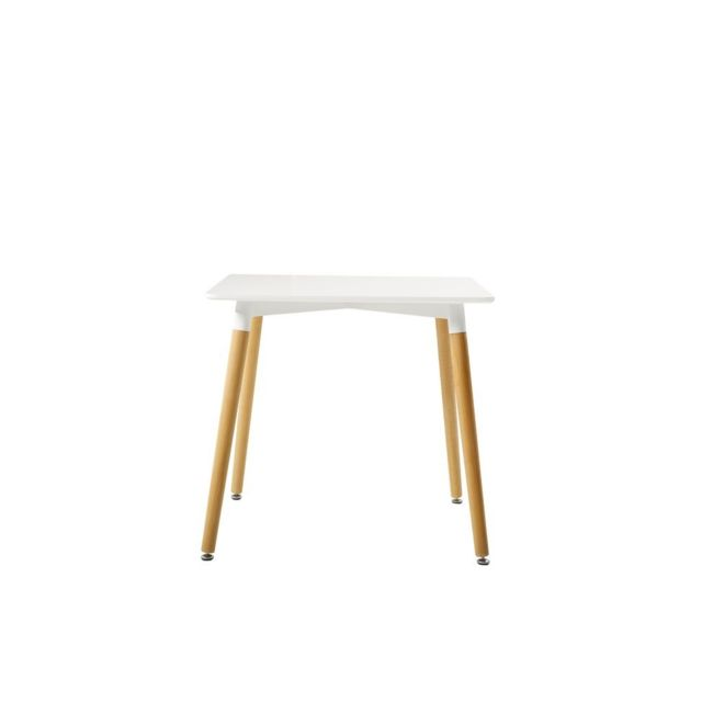 Homemania Table Diamond Contemporaine Blanc - Pour Séjour, Bureau - Support, Meuble