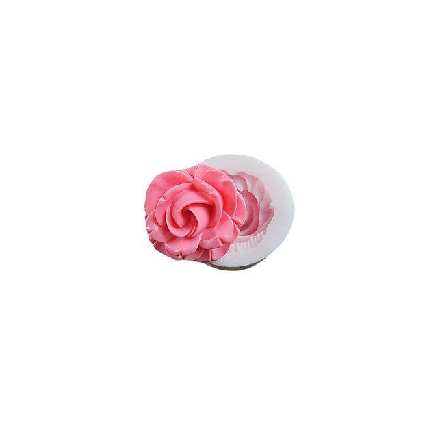 Alpexe Moule de Cuisson 1 Rose Detaillee 3D Pour Gâteau Pour Cookie Pour Tarte Silikon Ecologique