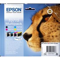 EPSON - Multipack de 4 cartouches Guépard T0715 1 noire 3 couleurs