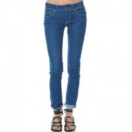9f9df439986b Pepe Jeans - New Brooke D592 Dnm - Jean Slim Femme Pépé Jeans ...