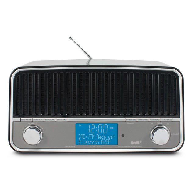 caliber audio technology radio r veil r tro vintage noir fm dab bluetooth pas cher achat. Black Bedroom Furniture Sets. Home Design Ideas
