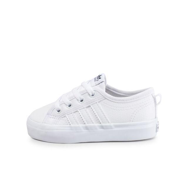plutôt cool nouvelle version nouvelle arrivée Adidas originals - Nizza Low Bébé Blanche - pas cher Achat ...