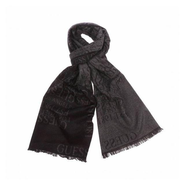 f564c71a92f9 Guess - Echarpe Nero Black - pas cher Achat   Vente Echarpes - RueDuCommerce