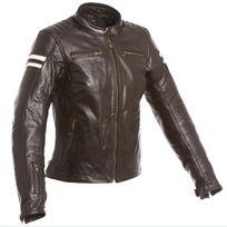 Segura - blouson moto cuir femme Retro vintage marron beige Scb933 T5 46
