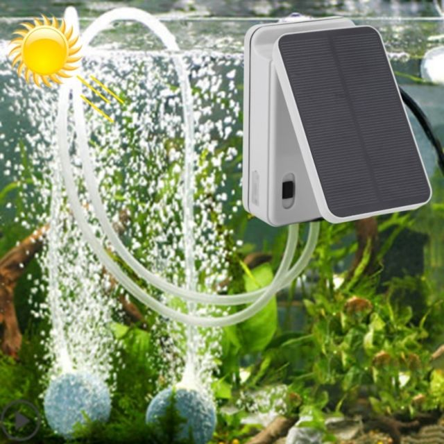 Wewoo Oxygénateur pliable de pompe à air d'énergie solaire de réservoir d'aquarium de 5V, prise américaine