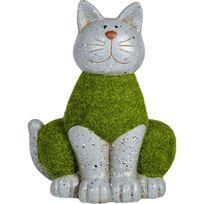 Alinéa - Countryside Chat décoratif en terre cuite et mousse synthétique H27cm