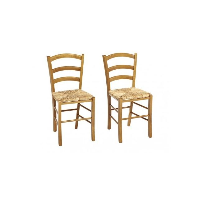 Lot de 2 chaises PAYSANNE Hêtre massif Teinte : Noir
