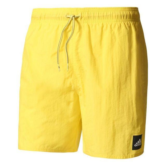 Pas cher Adidas Hommes Short de bain Solid jaune Vente en