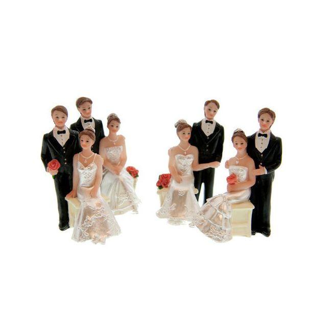 Figurine mariés 6.5 cm
