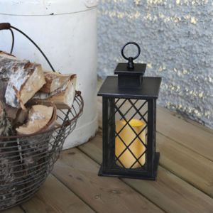 Best season jaipur lanterne d 39 ext rieur m tal noir for Luminaire exterieur telecommande