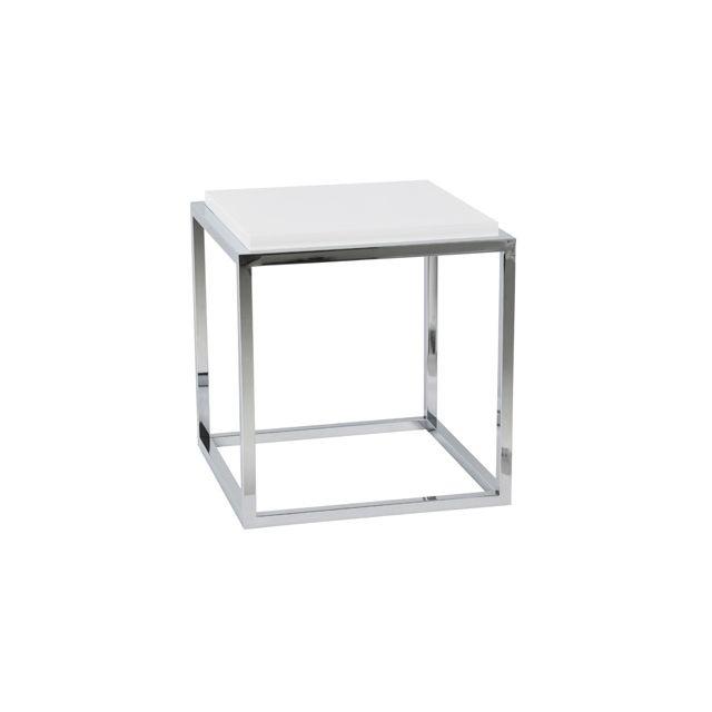 Table basse design 42x42x44cm Kyadri - blanc