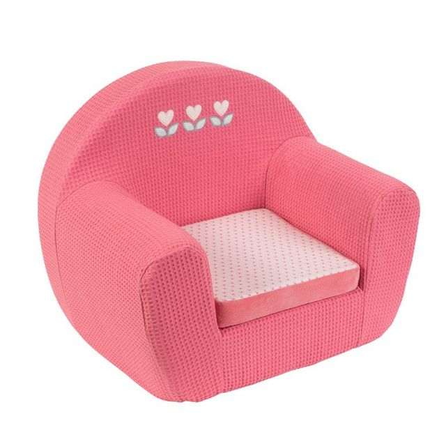 nattou pouf sofa charlotte rose pas cher achat. Black Bedroom Furniture Sets. Home Design Ideas