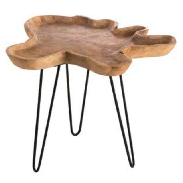 Inside 75 Table basse en bois Clara natura