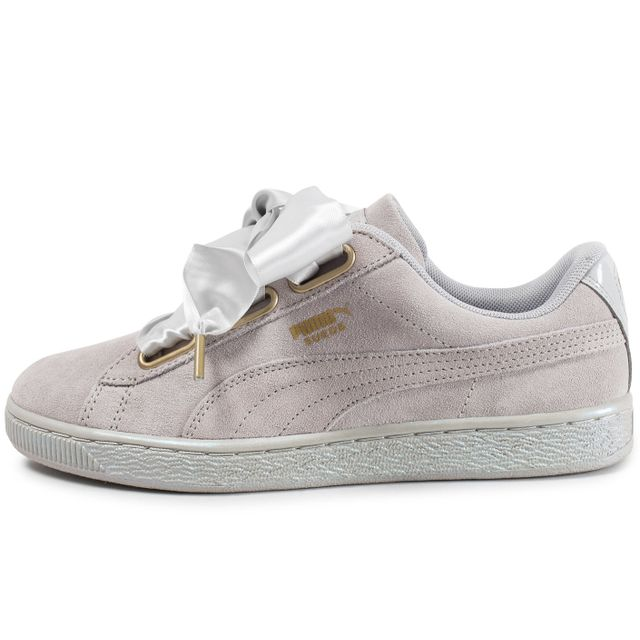 puma femme suede heart satin sneakers