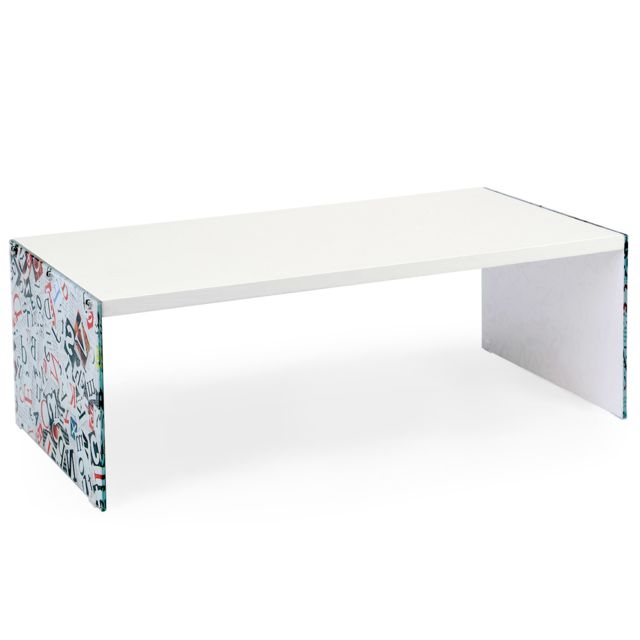 NO NAME Table basse Verso Letter Bois Blanc