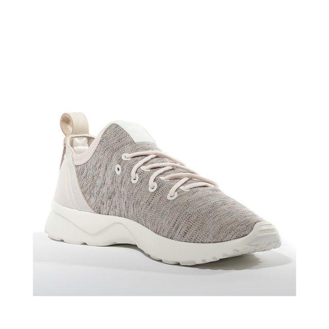 Adidas Chaussures ZX Flux ADV Virtue Socks Rose Femme Rose