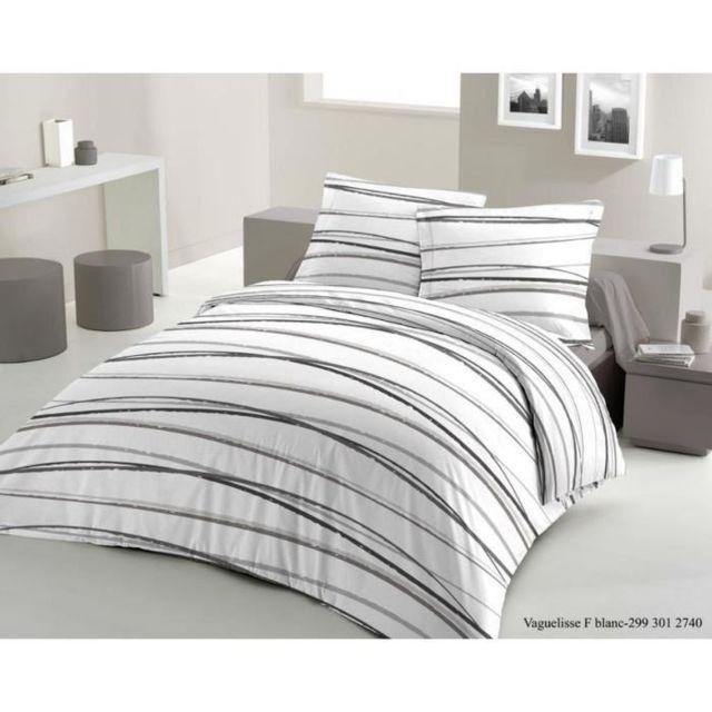 lovely home parure de couette vaguelisse 1 housse de couette 200x200 cm 2 taies 65x65 cm. Black Bedroom Furniture Sets. Home Design Ideas