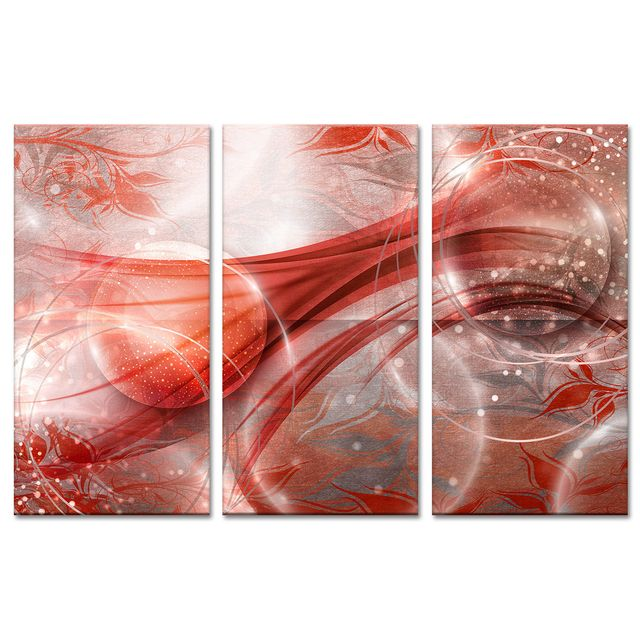 Declina - Tableau abstrait pas cher sur - Cadre triptyque design 80cm x 120cm