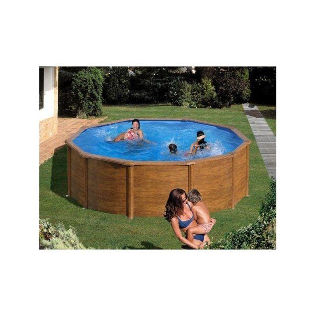 Gre pools kit piscine hors sol acier ronde pacific - Piscine hors sol acier pas cher ...