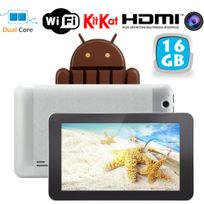 Tablette tactile Android 4.4 KitKat 7 pouces Dual Core Gris 16 Go