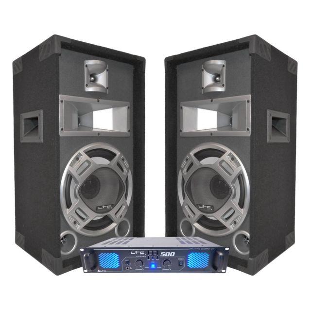 Ltc Pack Dj 500 W + 2 enceintes 400 W Dj10-BG