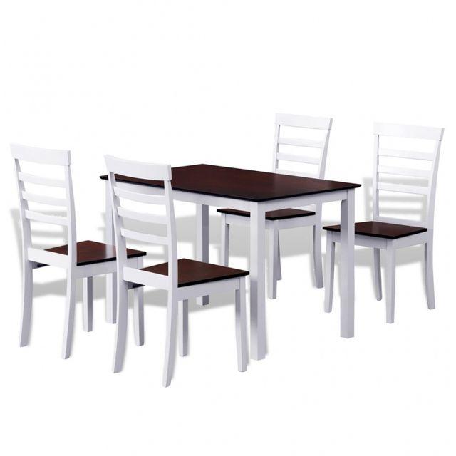 Casasmart Lot d'une table et 4 chaises