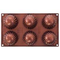 Pavonidea - Moule demi sphère en silicone platine cuivré Swirl