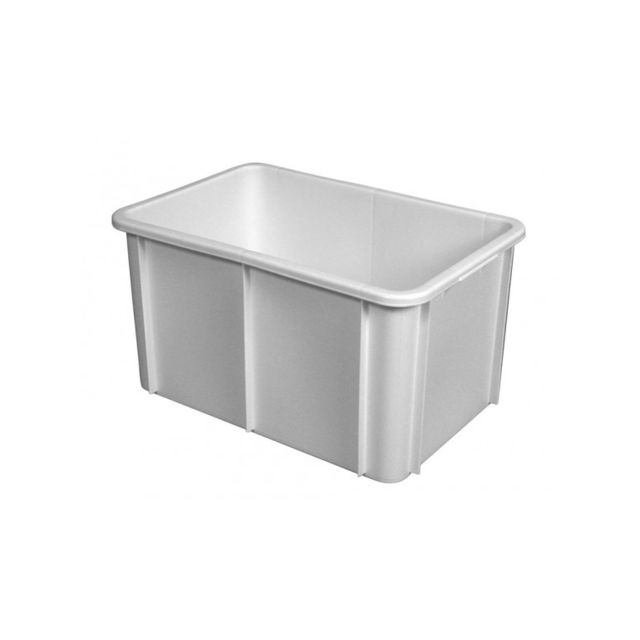 Gilac Bac Rectangulaire Empilable 55 Litres Blanc