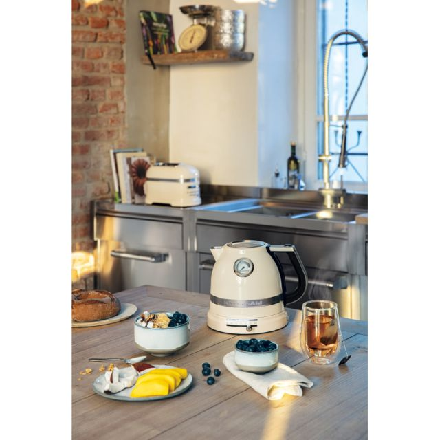 Kitchenaid bouilloire électrique de 1,5L 2400W crème argent
