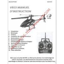Wltoys - Notice complète en Français du V913 Mt400 - Envoi par courrier