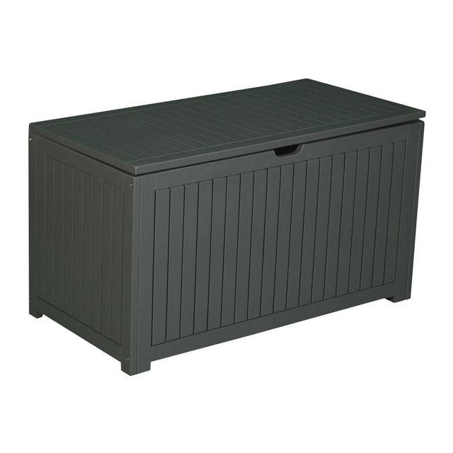 dlm coffre de rangement en acacia gris 202l jardin secret pas cher achat vente coffre de. Black Bedroom Furniture Sets. Home Design Ideas