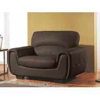Fauteuil salon dossier haut achat fauteuil salon dossier for La maison du cuir