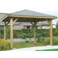Dedans Dehors - Kiosque en bois Solid 4 poteaux 12m