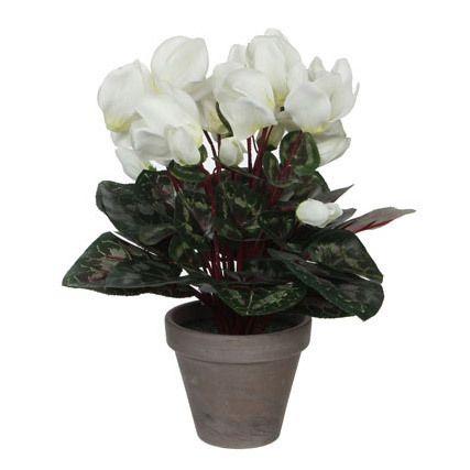 Edelman Fleur Artificielle Cyclamen En Pot Gris H 30cm Elliot