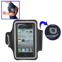 Techexpert - Brassard sport tour de bras pour iPhone 4 & 4S / iPhone 4 CDMA, / iPhone 3GS / iPod Touch 4 noir