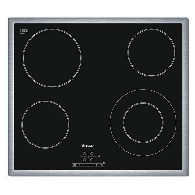 bosch table de cuisson vitroc ramique 58cm 4 feux 6600w. Black Bedroom Furniture Sets. Home Design Ideas
