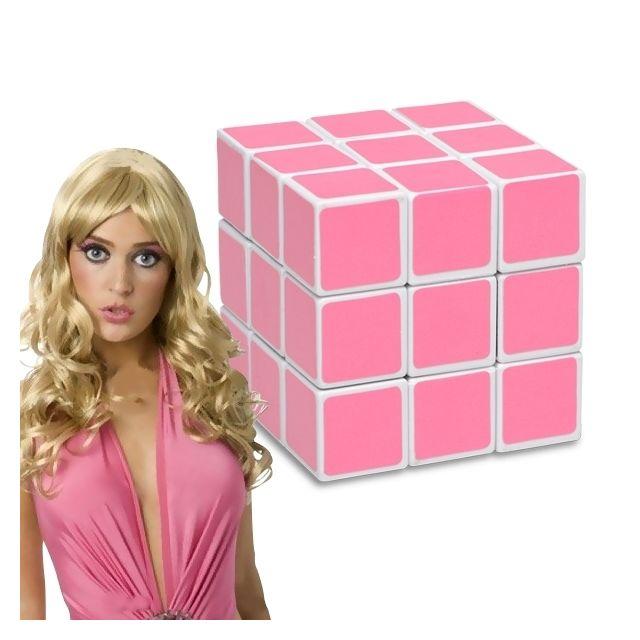 Totalcadeau Cube magique rose pour blondes magic Casse-tête