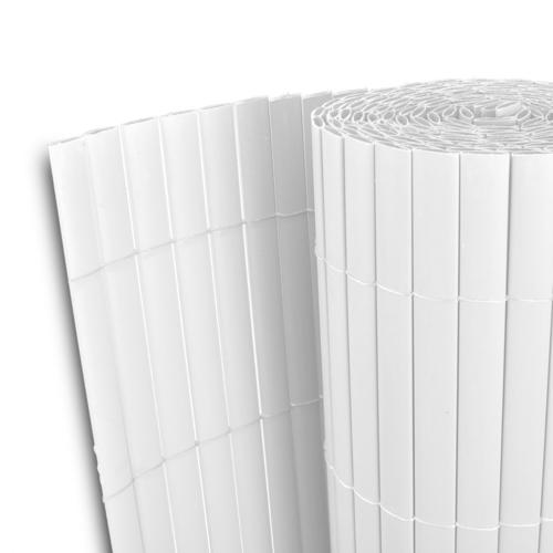 Rocambolesk - Superbe Clôture de jardin Pvc Blanc Double face 500 x 200 cm Latte 12 mm Neuf